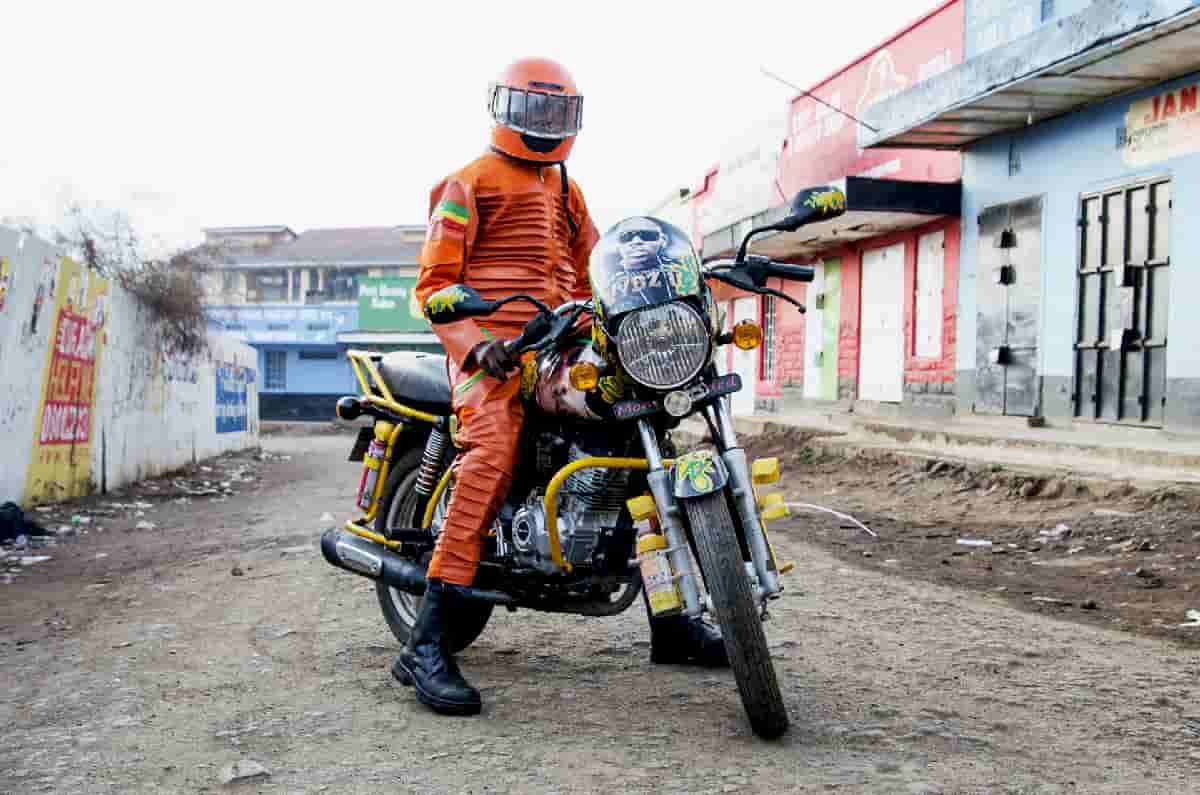 Nairobi's motor taxi drivers sport extravagant costumes in 'Boda Boda Madness'