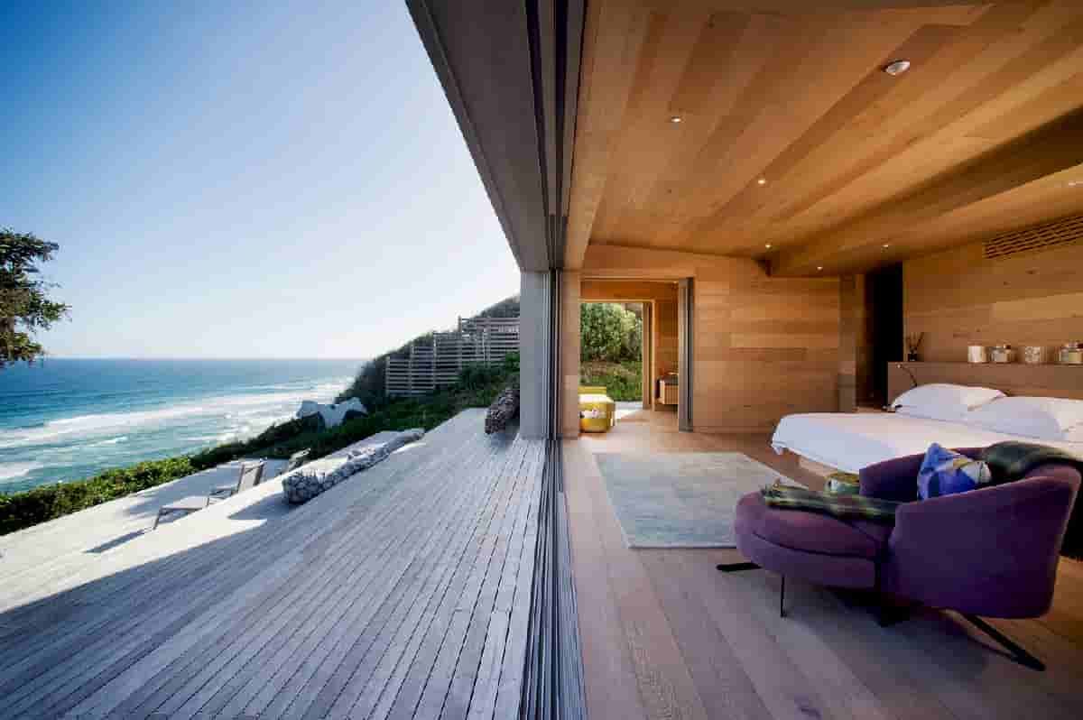 An Elegantly Floating Dune House Like Crafted Box Floats On Top Of Tree Tops