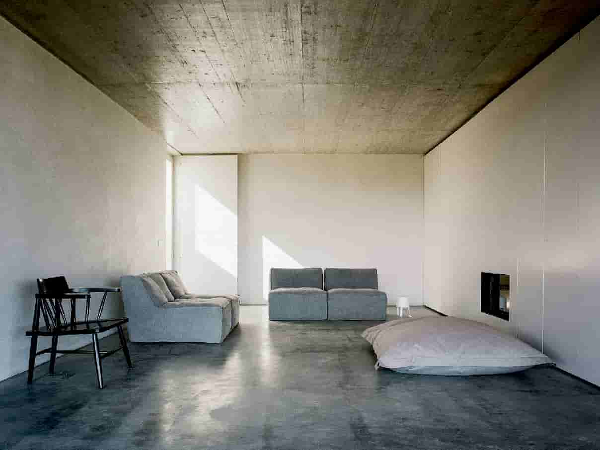 The Concrete House Set Amid The Rolling Landscape Of Rural Portugal Near The Town Of Monsaraz